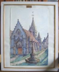 Eglise - Français:   Eglise de Saintines (Oise), 1932