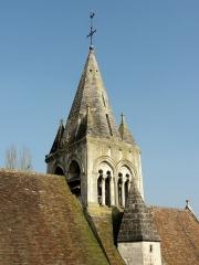 Eglise - Français:   Le clocher.