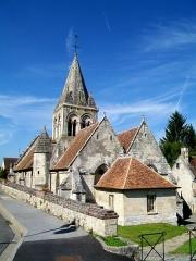 Eglise - Français:   L\'église Saint-Denis, Saint-Jean-Baptiste, depuis l\'est.