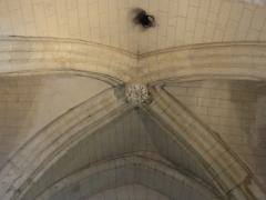 Eglise - Français:   Base du clocher, voûte.