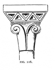 Eglise Saint-Aignan - English: Fig 116 -Capital of the St. Aignan at Senlis, Development & Character of Gothic Architecture (1890)