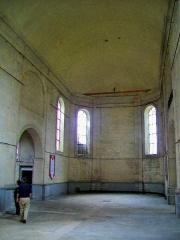 Ancien Hôpital de la Charité - Français:   La nef de la chapelle, vue sur le choeur.