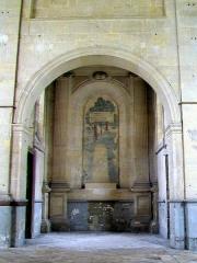 Ancien Hôpital de la Charité - Français:   La chapelle, transept est, donnant accès à deux petits locaux annexes.