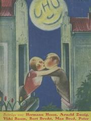 Ancienne poste aux chevaux -  UHU. Heft 3, 1926. Umschlagzeichnung von Charles Girod