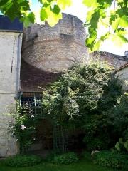 Enceinte gallo-romaine - Français:   La tour n° 21 ou «tour du Puits-Tiphaine» dans un jardin, 10 rue du Puits-Tiphaine.