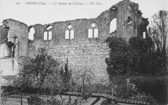 Ruines du château -  Thiers (Oise - France): ruines du château