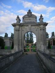 Château de Blérancourt, ancien château des Ducs de Gesvres, actuellement Musée national de la coopération franco-américaine ou Musée national des Deux-Guerres -  Blérancourt castle