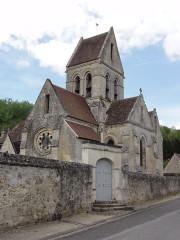 Eglise - English: Chaillevois (Aisne) église