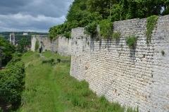 Ruines de l'ancien château et la butte sur laquelle elles sont situées - Français:   Chateau de Chateau Thierry, Aisne, France