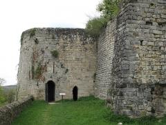 Ruines de l'ancien château et la butte sur laquelle elles sont situées - English: The tour Bouillon of the castle of Château-Thierry (Aisne, France).