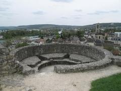Ruines de l'ancien château et la butte sur laquelle elles sont situées - English: The tour du Roi (=King tower) of the castle of Château-Thierry (Aisne, France).
