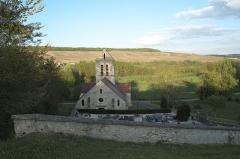 Eglise - Deutsch: Kirche Saint-Denis in Courtemont-Varennes im Département Aisne (Picardie/Frankreich)