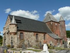 Eglise Saint-Nicolas -  Église fortifiée de Englancourt, Aisne, France