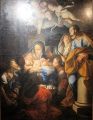 Eglise - English: Antonio David, adoration by the shepherds, Saint Peters church of Guise, temporary exhibition in Musée départemental de l'Oise