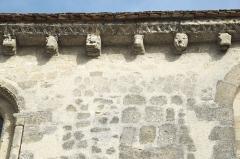 Ancienne église Saint-Martin-au-Parvis - Deutsch: Ehemalige Kirche St-Martin-au-Parvis in Laon im Département Aisne/Picardie (Frankreich), Kragsteine unter dem Dachansatz