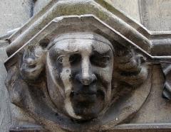 Basilique Notre-Dame - Français:   Tête sculptée. Basilique Notre-Dame de Liesse