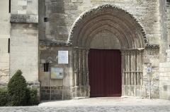 Eglise Notre-Dame - Deutsch: Katholische Pfarrkirche Notre-Dame in Marle im Département Aisne (Picardie/Frankreich), Gotisches Stufenportal des südlichen Querschiffs