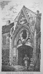 Eglise - Français:   une vue de l\'église de Presle et boves publié dans matot braine