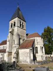 Eglise - English: Churuch St Georges in the town of Presles et Thierny, Aisne, France