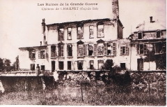 Ancien château - English: view of the castle just after the first world war