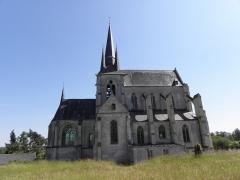 Eglise Saint-Julien et Saint-Jean-Baptiste - Français:   Flanc nord de l\'église Saint-Julien de Royaucourt-et-Chailvet (02).