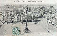 Hôtel de ville - Français:   Carte postale de st-Quentin posté le 28 août 1906.