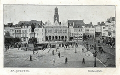 Hôtel de ville - English: Postcard, undated ( ca.1915 ). Title: