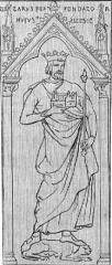 Ancienne abbaye Saint-Médard - English: Chlothar I