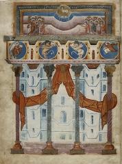 Ancienne abbaye Saint-Médard -  Bibliothèque nationale de France, Département des Manuscrits, Latin 8850, fol. 1v.
