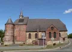 Eglise -  Église fortifiée de Wimy, Aisne, France