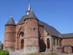 Eglise -  Saint-Martin de Wimy, église fortifiée (fortification entre 1578 et 1585) (Dep. Aisne, France)
