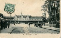 Gare -  Carte postale ancienne éditée par BF à Paris, N° 43 Abbeville: La Gare