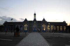 Gare -  Abbeville (Somme, France) -   La gare, un soir de février.   .  .