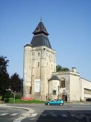 Hôtel de ville -  Abbeville (Somme, France) -  Le beffroi, qui abrite désormais le musée.