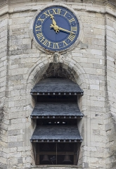 Beffroi - English: Amiens, France: Detail of the Belfry of Amiens