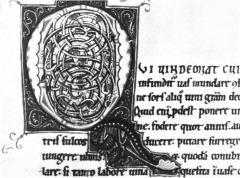 Bibliothèque municipale -  Amiens, Bibliothèques d'Amiens Métropole, manuscrit Lescalopier 30 B (ex Kloster Weißenau), fol.  55v, Iniitale Q
