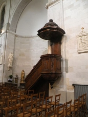 Eglise Saint-Acheul - Français:   Eglise Saint-Acheul, Amiens chaire à prêcher