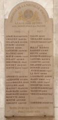Eglise Saint-Acheul - Français:   Eglise Saint-Acheul, Amiens monument aux morts
