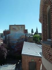 Logis du Roi - Français:   Vue sur la ville Amiens de la \