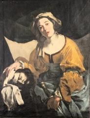 Musée de Picardie - English: Bernardo Cavallino, Judith and the head of Holofernes, Musée de Picardie, temporary exhibition in Musée départemental de l'Oise