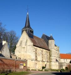 Eglise Saint-Jacques-le-Majeur et Saint-Jean-Baptiste -  Folleville (Somme, France) -  L'église.  .  .