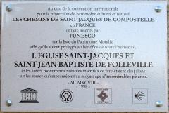 Eglise Saint-Jacques-le-Majeur et Saint-Jean-Baptiste -  Folleville (Somme, France) -  L'église est inscrite au