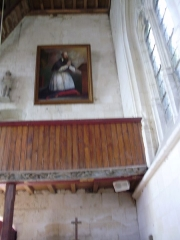 Eglise Saint-Jacques-le-Majeur et Saint-Jean-Baptiste - Français:   Folleville (Somme), église Saint-Jacques-le-Majeur et Saint-Jean-Baptiste, tribune