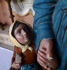 Eglise Saint-Jacques-le-Majeur et Saint-Jean-Baptiste -   Folleville (Somme, France).   Dans l\'église.