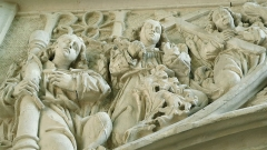 Eglise Saint-Jacques-le-Majeur et Saint-Jean-Baptiste -  Folleville (Somme, France).  Dans l'église.