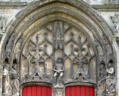 Eglise Saint-Pierre -  Mailly-Maillet (Somme, France) -   L'église: le portail central.