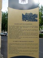 Eglise Saint-Jean -  Péronne (Somme, France) -   Panneau informatif décrivant l'église Saint-Jean-Baptiste.   Cette vue n'a pas été