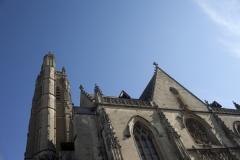Eglise Saint-Jean - English: Eglise Saint-Jean-Baptiste. Péronne. Hauts-de-France, Somme. France. Church (Eglise Saint-Jean-Baptiste). Exterior. West façade. Gothic. . Cultural heritage; Cultural heritage|Monuments; Cultural heritage|Styles|Gothic; Europe|France|Hauts-de-France|Somme|Péronne. photo: Paul M.R. Maeyaert. pmrmaeyaert@gmail.com. www.pmrmaeyaert.eu; www.polmayer.com. © Paul M.R. Maeyaert; pmrmaeyaert@gmail.com. Ref: PM_113197_F_Peronne
