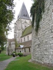 Eglise dite collégiale Saint-Martin -  Château de Picquigny, côté église