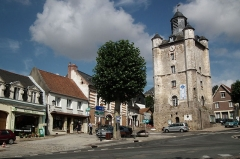 Beffroi -  Le beffroi de Saint-Riquier, Saint-Riquier, Somme, Picardie, France